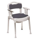 Swift Commode/ Shower Chair/ Toilet Seat Raiser (3 in 1) - Swift Commode facilitates the situation for persons who req